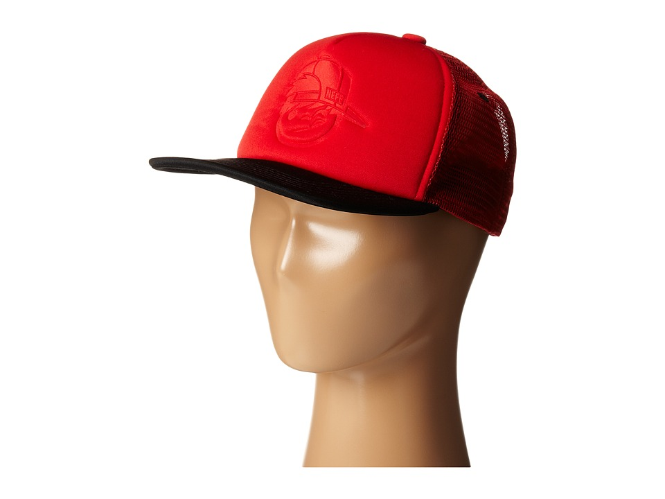 Neff - Kenni Foam Trucker (Red/Black) Caps