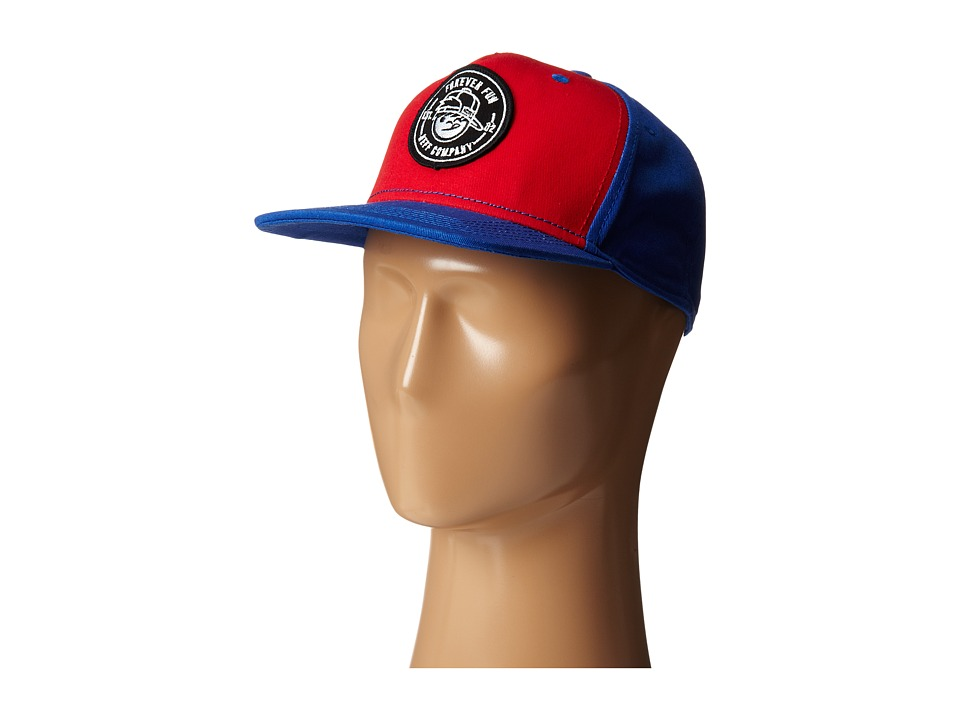 Neff - Kenni Patch Cap (Blue/Red) Baseball Caps