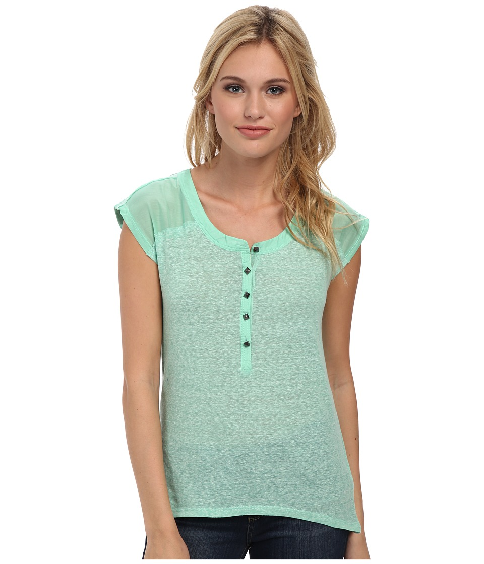 UNIONBAY - Stormy Lorie Henley (Spring Green) Women's Short Sleeve Pullover