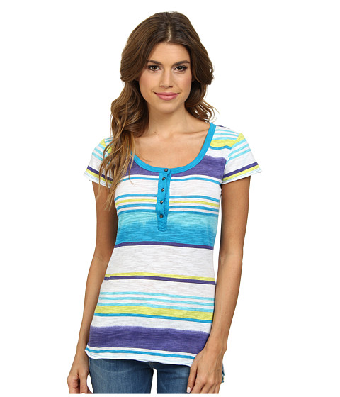 UNIONBAY - Belingham Stripe Miranda Knit Top (Cabana Blue) Women