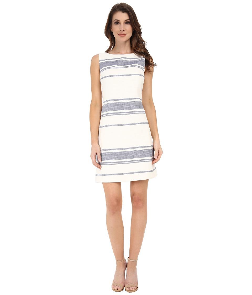 Adrianna Papell - Tweed Stripe A-Line Dress (Ivory) Women's Dress