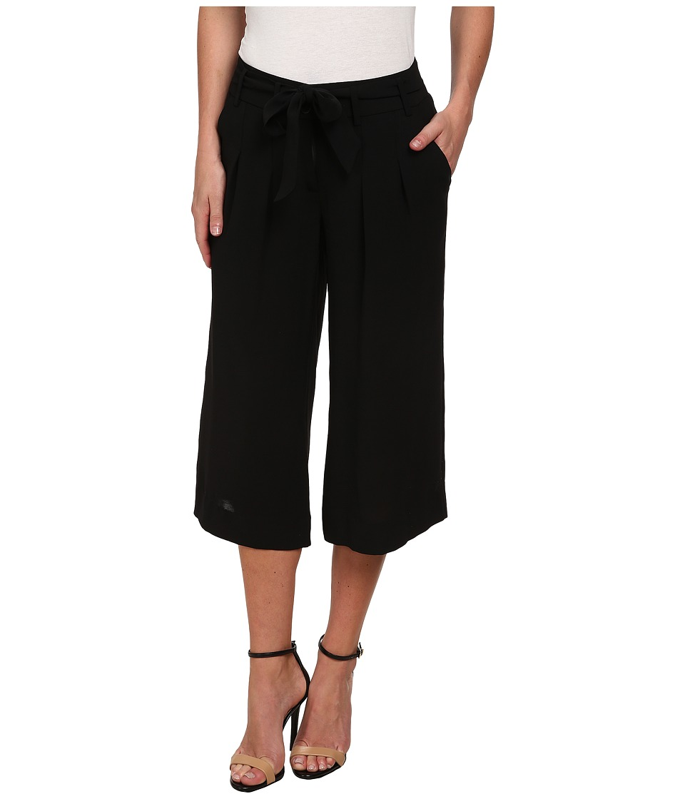 Adrianna Papell - Pleated Culotte w/ Self Belt (Black) Women's Casual Pants