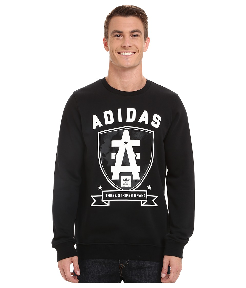 adidas Skateboarding - League D2D Crew (Black) Men's Clothing