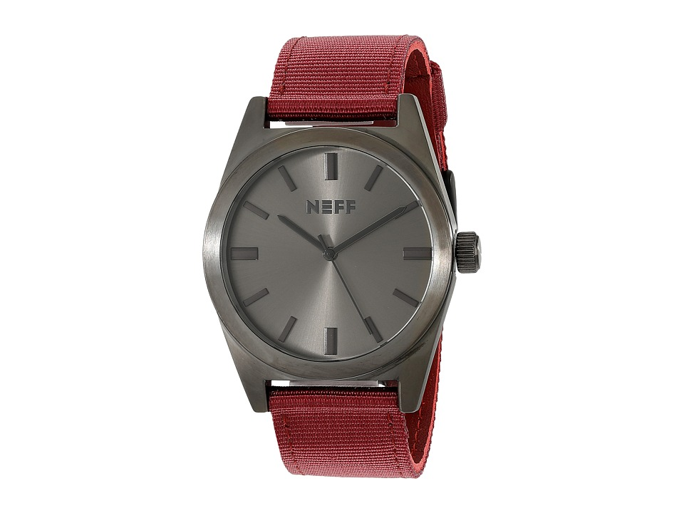 Neff - Nightly Watch (Gunmetal Maroon) Watches