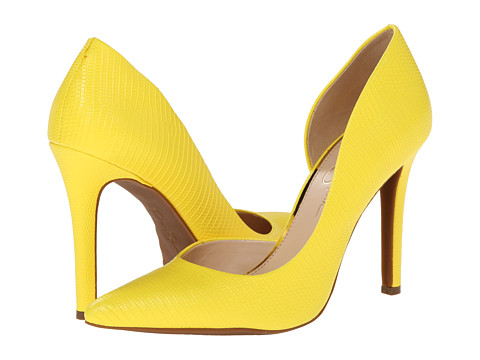Jessica Simpson - Claudette (Sour Lemon Bright Lizard Print Fabric) High Heels