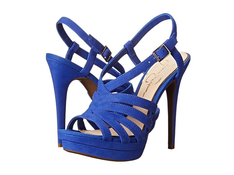 Jessica Simpson - Peace (New Cobalt Blue Elko Nubuck) High Heels