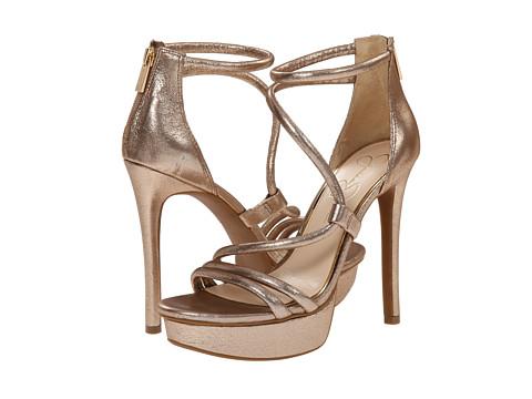 Jessica Simpson - Caela (Sandbar/Gold Shimmer Kid Suede) High Heels