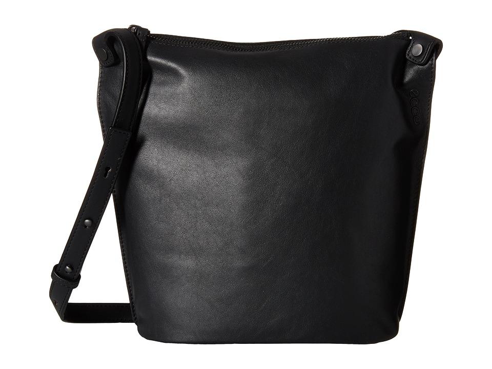 ECCO - Sculptured Small Bucket (Black) Shoulder Handbags