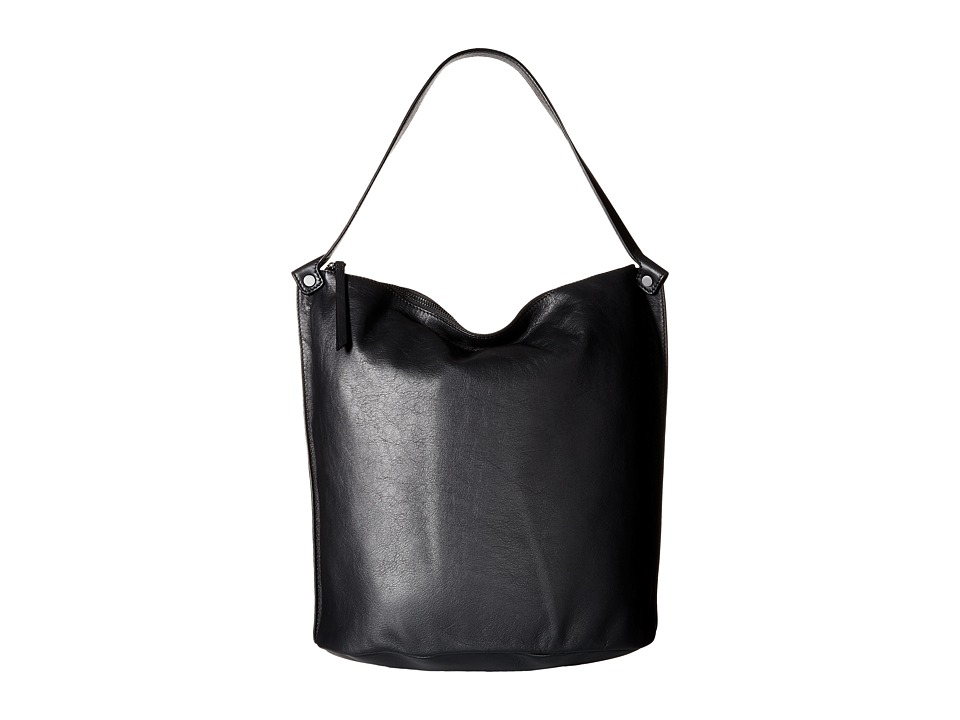 ECCO - Sculptured Bucket Bag (Black) Handbags
