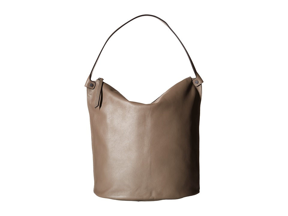 ECCO - Sculptured Bucket Bag (Dark Clay) Handbags