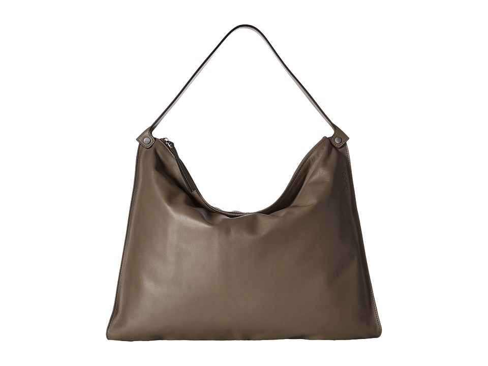 ECCO - Sculptured Shoulder Bag (Dark Clay) Shoulder Handbags