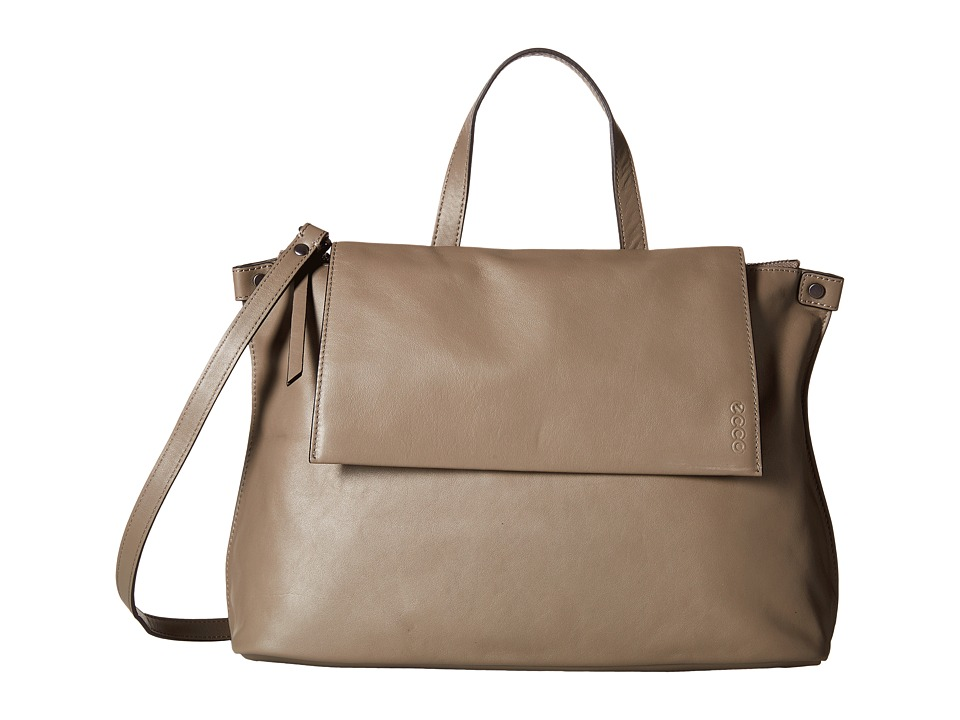 ECCO - Sculptured Satchel (Dark Clay) Satchel Handbags