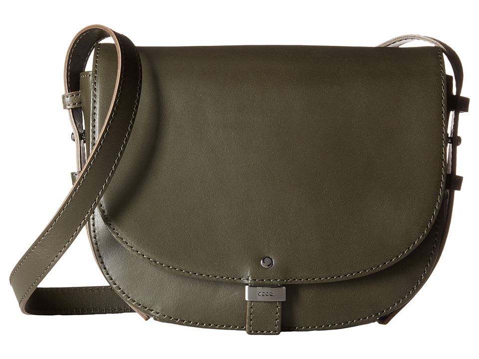 ECCO - Glady Small Saddle Bag (Tarmac) Cross Body Handbags