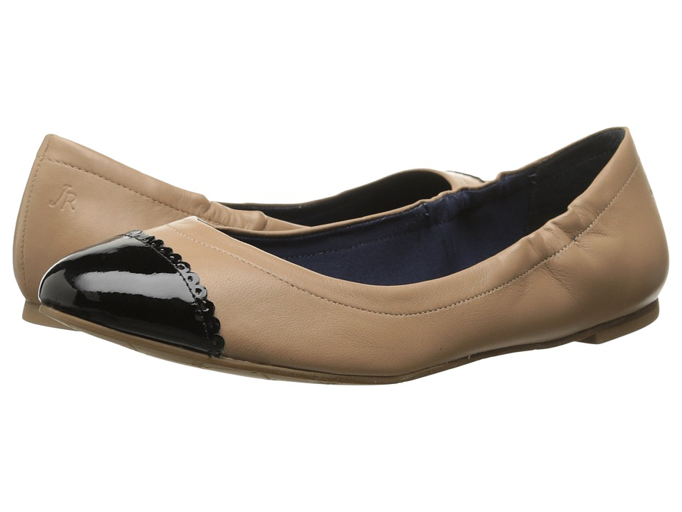 Jack Rogers - Bree Leather (Rose Cream/Black Patent) Women's Slip on Shoes