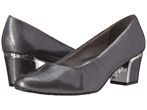 Soft Style - Deanna (Dark Pewter Cross Hatch Patent/Silver) Women's 1-2 inch heel Shoes
