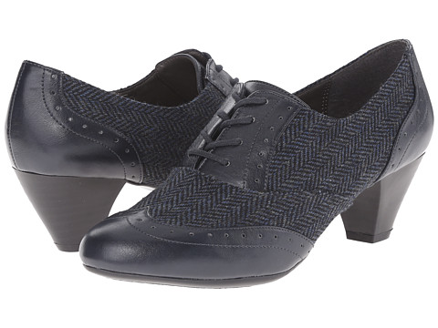 Soft Style - Georgette (Navy Speckled Herringbone/Vitello) Women's 1-2 inch heel Shoes