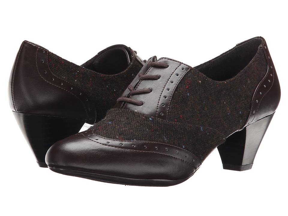 Soft Style - Georgette (Dark Brown Speckled Tweed/Vitello) Women's 1-2 inch heel Shoes