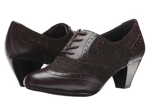 Soft Style - Georgette (Dark Brown Speckled Tweed/Vitello) Women