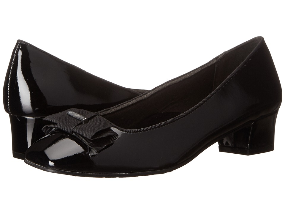 Soft Style - Sharyl (Black Patent) Women's 1-2 inch heel Shoes