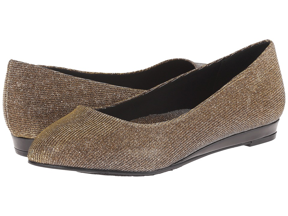 Soft Style - Darlene (Gold/Silver Cosmic) Women's Dress Flat Shoes