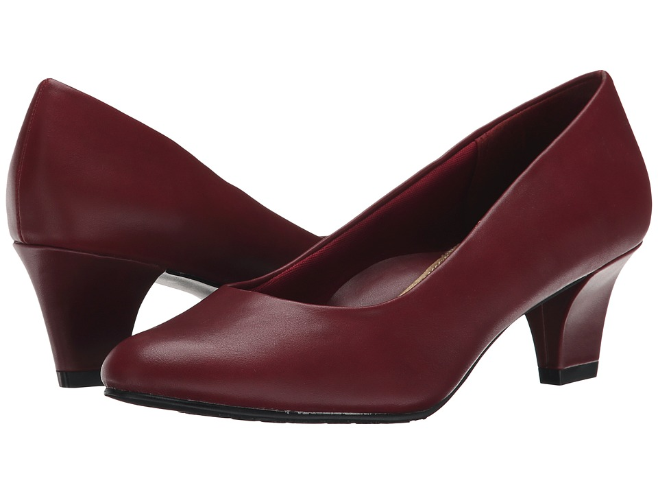 Soft Style Gail (Dark Red Leather) High Heels