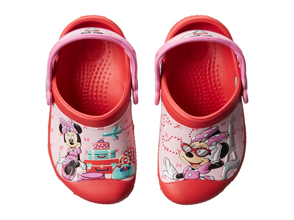 Crocs Kids - Minnie Jet Set (Toddler/Little Kid) (Red) Girls Shoes