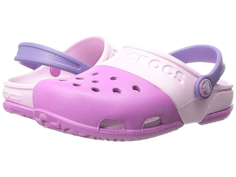 Crocs Kids Crocs Kids Electro II Clog (Toddler/Little Kid) (Wild Orchid/Ballerina Pink) Girls Shoes