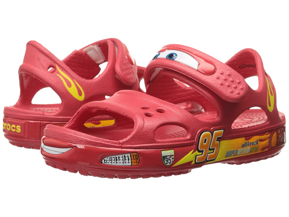 Crocs Kids - Crocband II Cars Sandal (Toddler/Little Kid) (Red) Boys Shoes