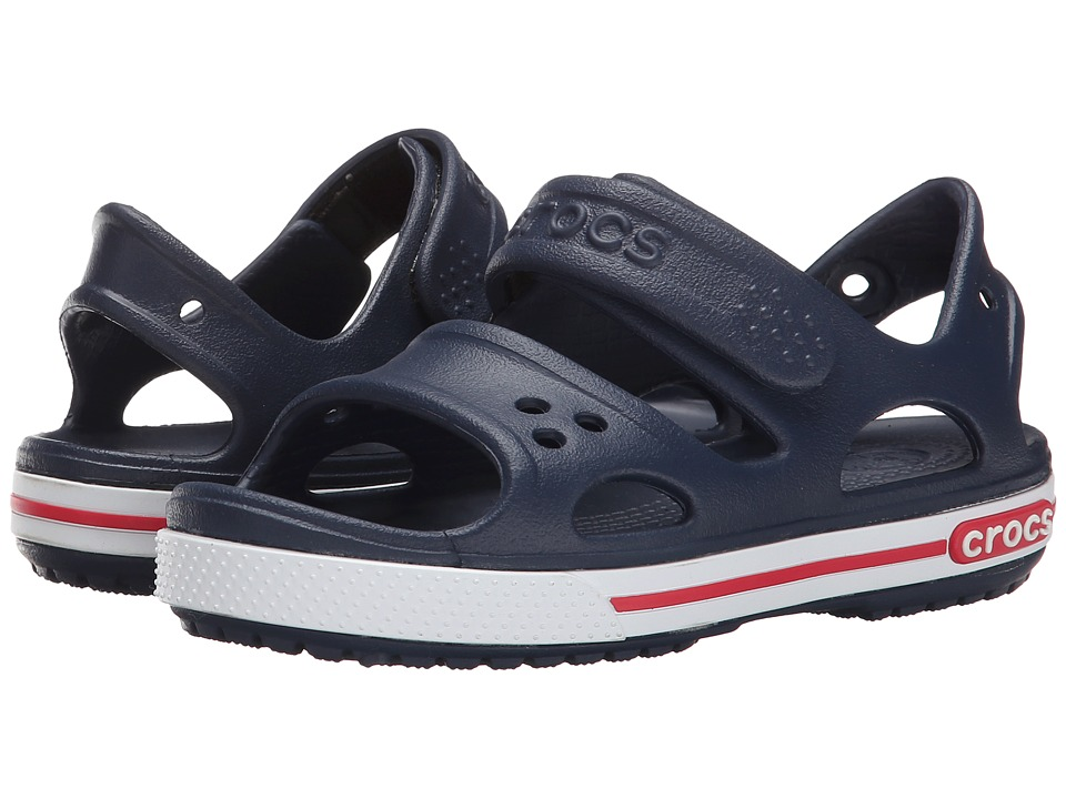 Crocs Kids - Crocband II Sandal (Toddler/Little Kid) (Navy/White) Kids Shoes
