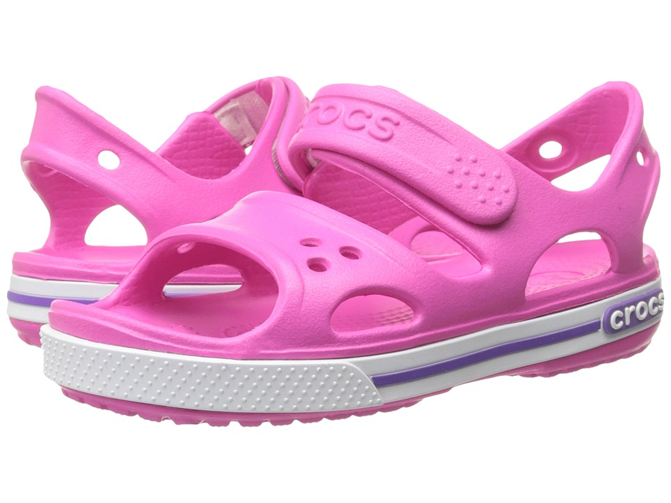 Crocs Kids - Crocband II Sandal (Toddler/Little Kid) (Neon Magenta/Neon Purple) Girls Shoes
