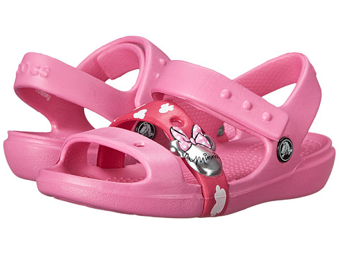 Crocs Kids - Keeley Sandal Minnie (Toddler/Little Kid) (Party Pink) Girls Shoes