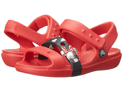 Crocs Kids - Keeley Sandal Minnie (Toddler/Little Kid) (Red CGI) Girls Shoes