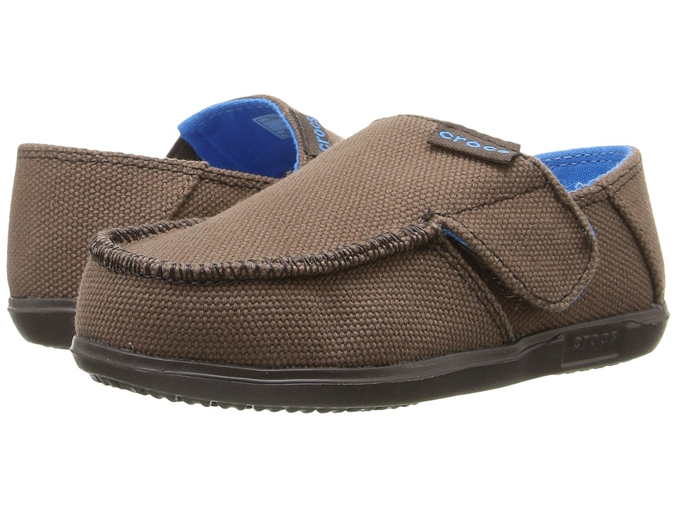 Crocs Kids - Santa Cruz Canvas Loafer (Toddler/Little Kid) (Espresso/Espresso) Boy's Shoes