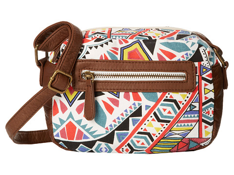 Billabong - Connected Spiral Crossbody Bag (Black/White) Cross Body Handbags