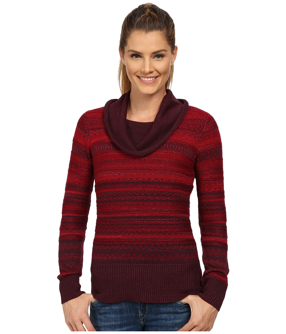 Aventura Clothing - Farrah Cowl Neck Top (Winetasting/Craisin) Women's Sweater