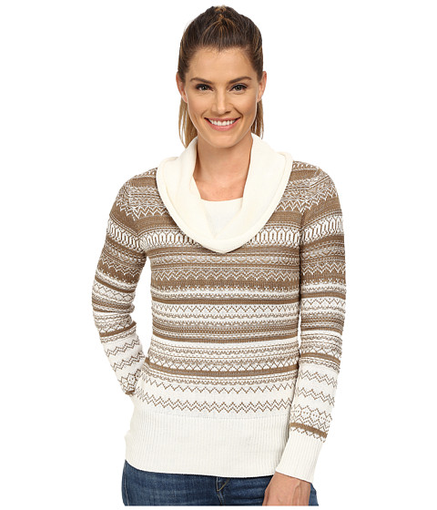 Aventura Clothing - Farrah Cowl Neck Top (Whisper White/Dark Khaki) Women's Sweater