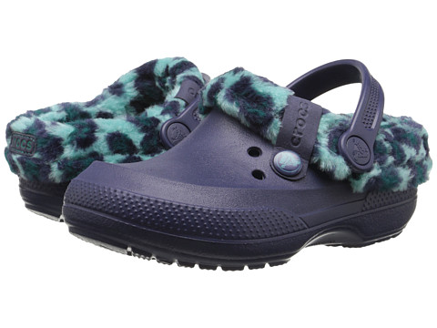 Crocs Kids - Blitzen II Animal Print Clog (Little Kid/Big Kid) (Nautical Navy/Pool) Kid's Shoes