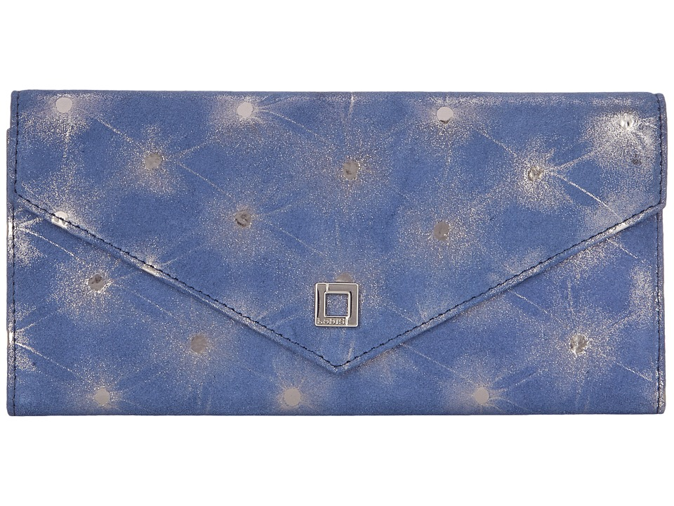 Lodis Accessories - Sophia Dot Alix Trifold (Lake/Platinum) Wallet Handbags
