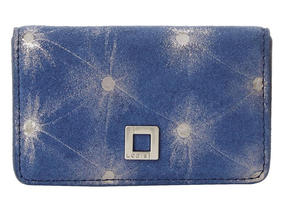 Lodis Accessories - Sophia Dot Mini Card Case (Lake/Platinum) Credit card Wallet