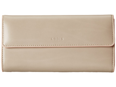 Lodis Accessories - Audrey Checkbook Clutch (Taupe/Blush) Wallet Handbags