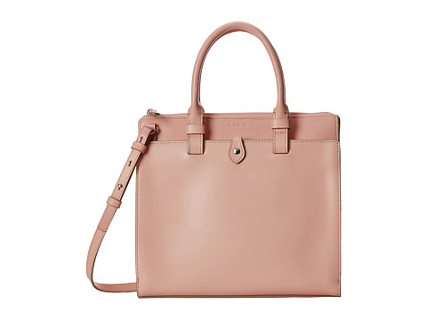 Lodis Accessories - Audrey Linda Medium Satchel (Blush/Taupe) Satchel Handbags