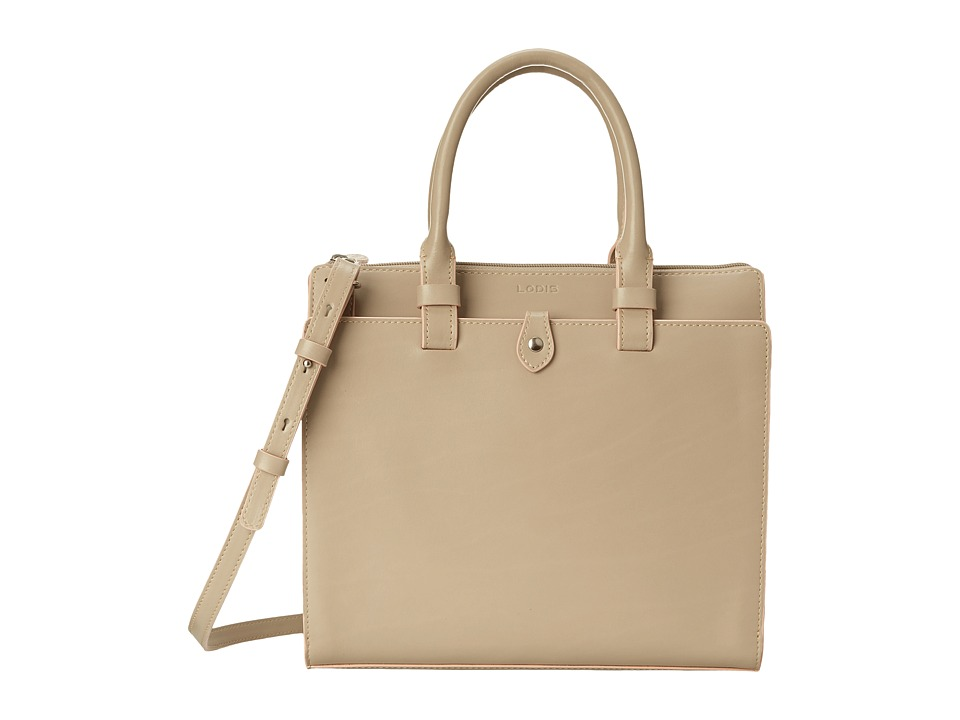 Lodis Accessories - Audrey Linda Medium Satchel (Taupe/Blush) Satchel Handbags