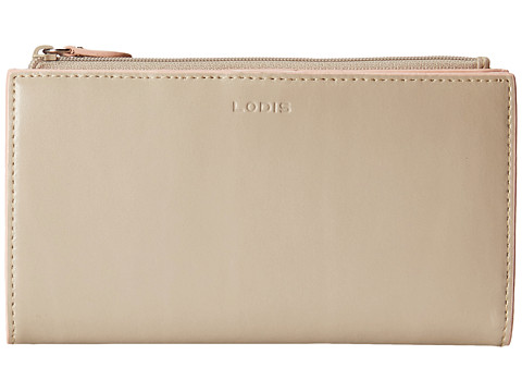 Lodis Accessories - Audrey Tess Wallet (Taupe/Blush) Checkbook Wallet