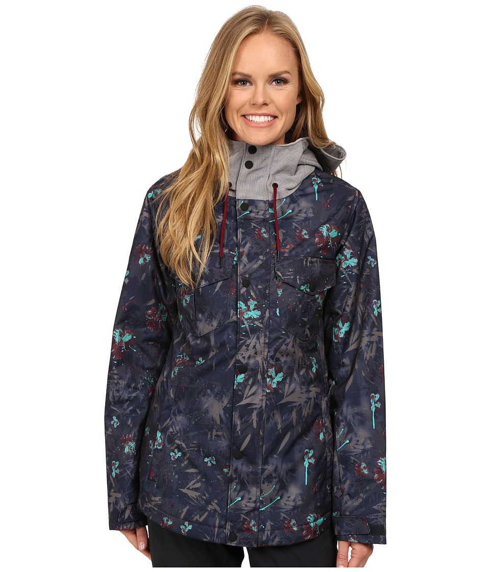 Oakley - Charlie 2 Biozone Insulated Jacket (Navy Floral) Women's Coat
