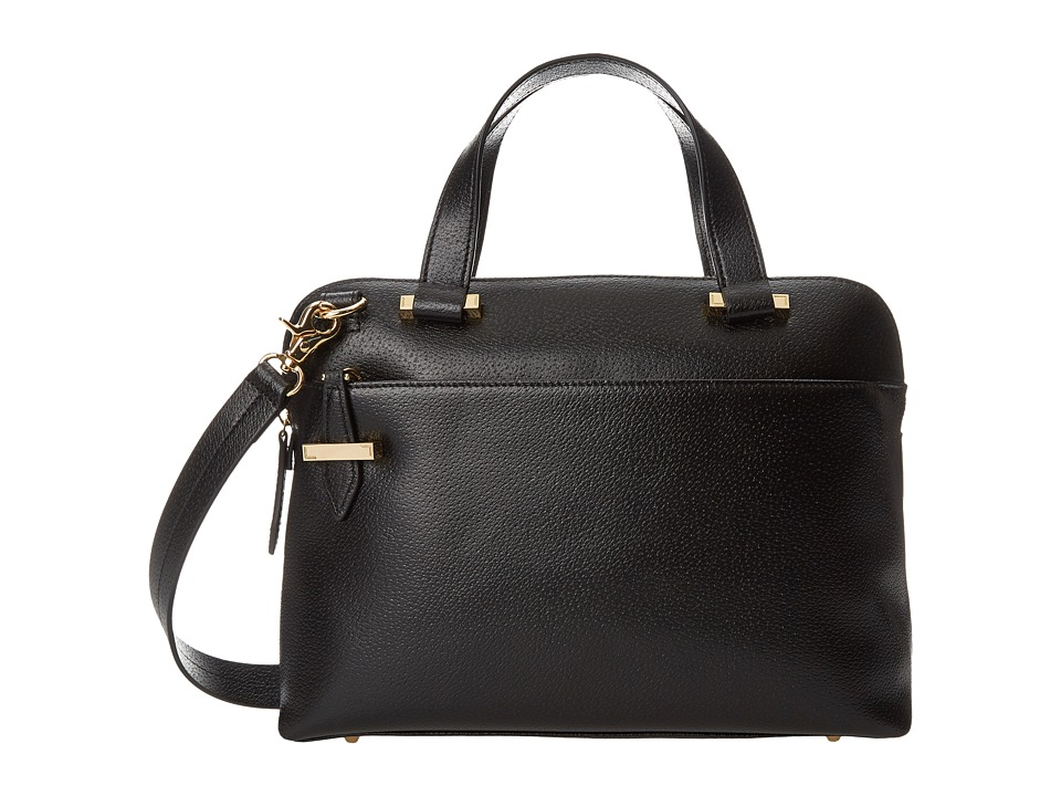 Lodis Accessories - Stephanie RFID Under Lock Key LAUREN Slim Brief Satchel (Black) Briefcase Bags