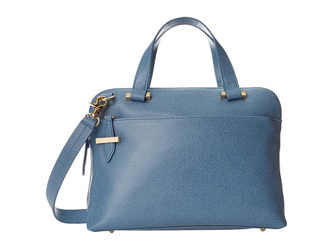 Lodis Accessories - Stephanie RFID Under Lock Key LAUREN Slim Brief Satchel (Denim) Briefcase Bags