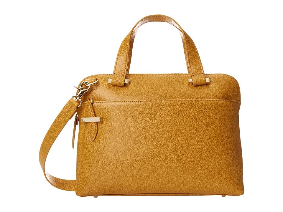 Lodis Accessories - Stephanie RFID Under Lock Key LAUREN Slim Brief Satchel (Toffee) Briefcase Bags