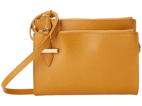 Lodis Accessories - Stephanie RFID Under Lock Key Trisha Double Zip Wallet on a String (Toffee) Wallet Handbags