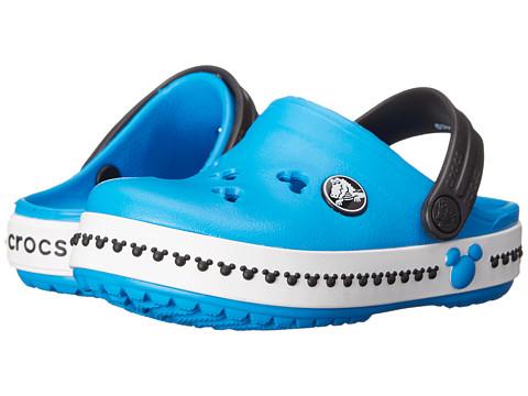 Crocs Kids - Crocband Mickey Clog III Clog (Toddler/Little Kid) (Ocean/Black) Kids Shoes