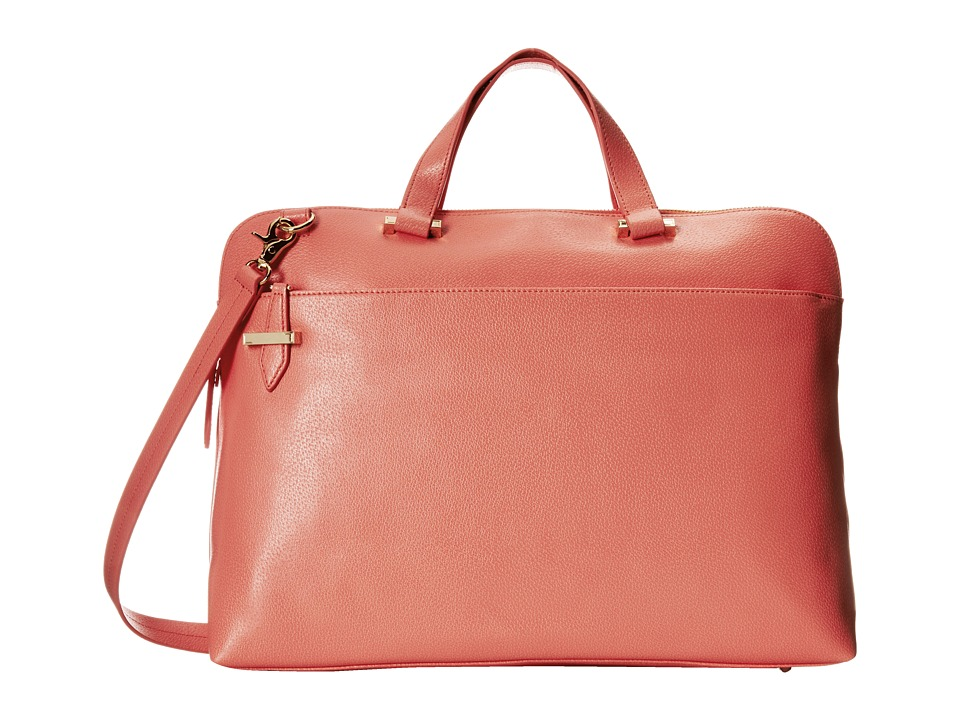 Lodis Accessories - Stephanie RFID Under Lock Key Jamie Medium Brief (Coral) Briefcase Bags